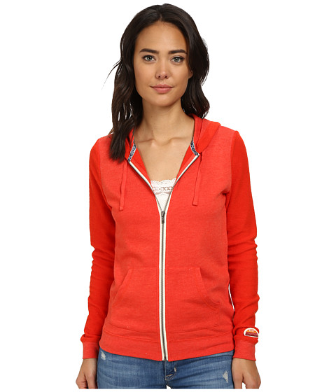 Roxy - Day by Day Zip Hoodie (Fiery Orange) Women's Sweatshirt