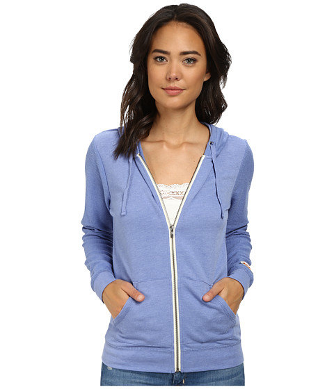 Roxy - Day by Day Zip Hoodie (Light Denim) Women's Sweatshirt