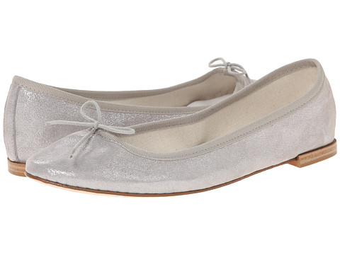 Repetto - Cendrillon (Metallic Suede Grey) Women's Flat Shoes
