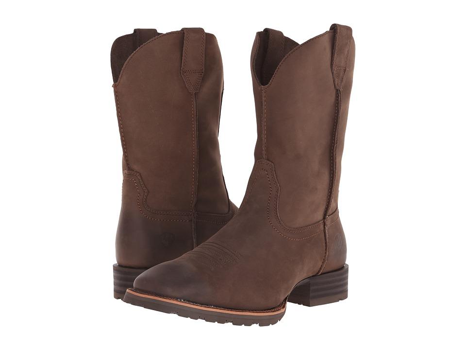 Ariat - Hybrid Street Side (Chocolate Nubuck) Cowboy Boots