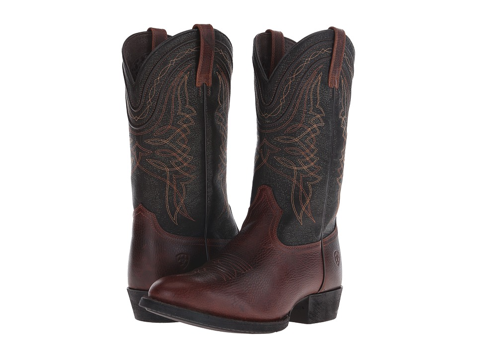 Ariat - Comeback (Plank Brown/Black Brush-Off) Cowboy Boots