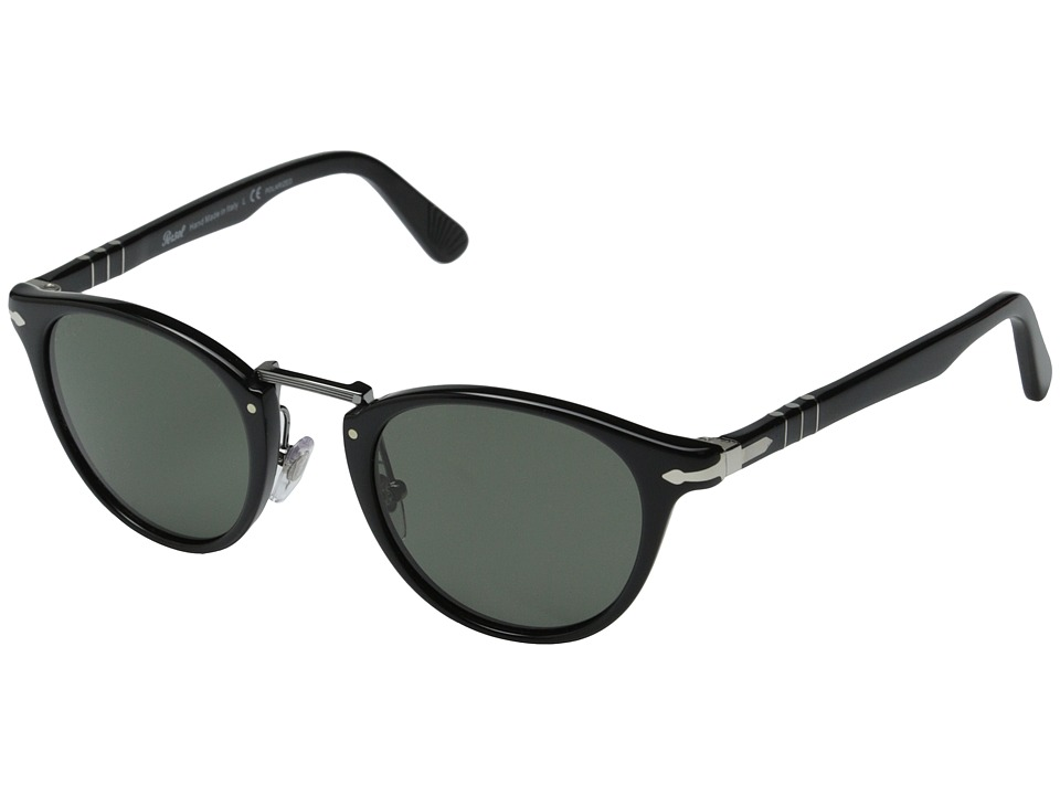 Persol - PO3108S - Polarized (Black/Green Polarized) Fashion Sunglasses