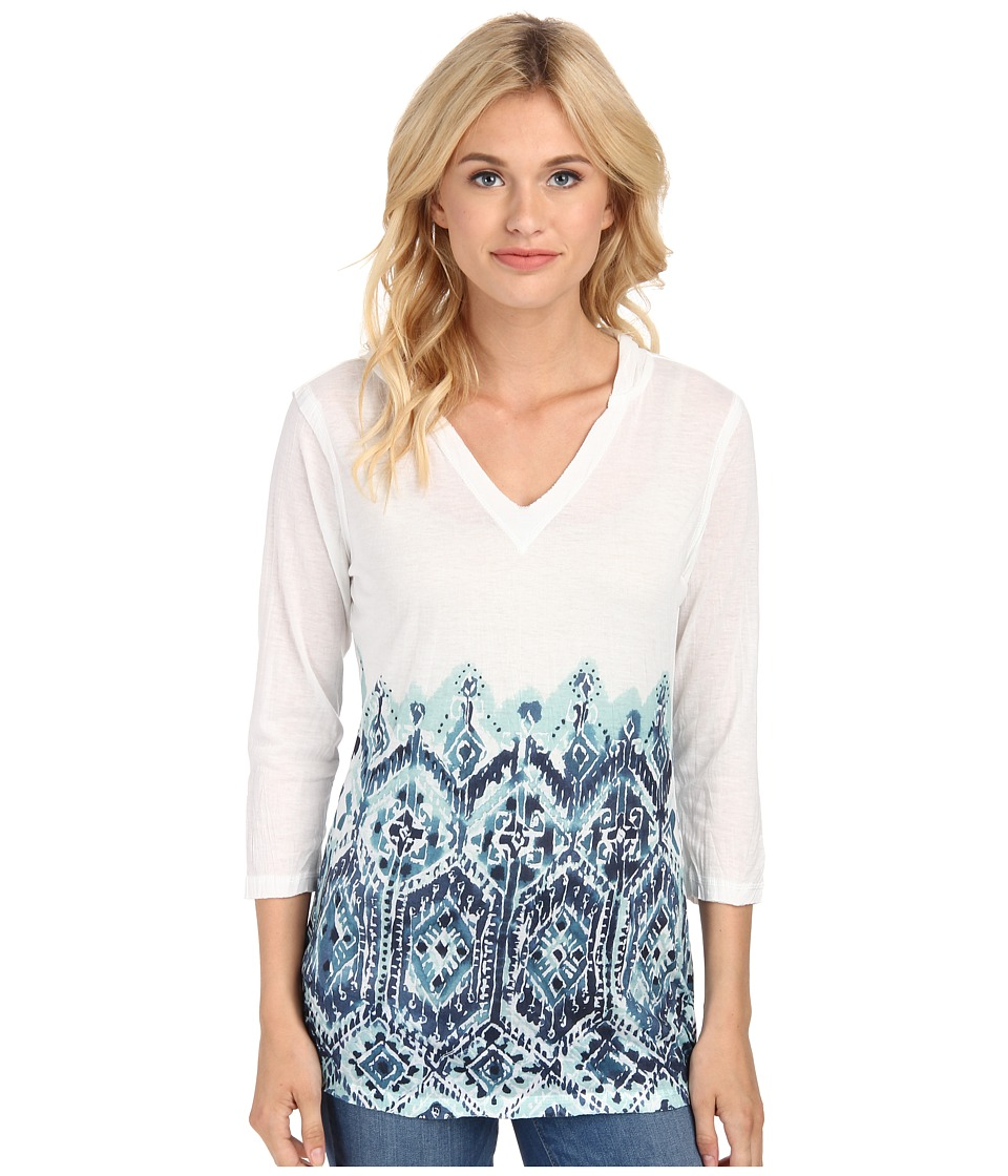 Seven7 Jeans - Crinkle Sublimation Hoodie (Seafoam Blue) Women's Sweatshirt