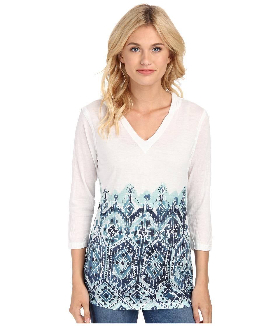Seven7 Jeans - Crinkle Sublimation Hoodie (Seafoam Blue) Women