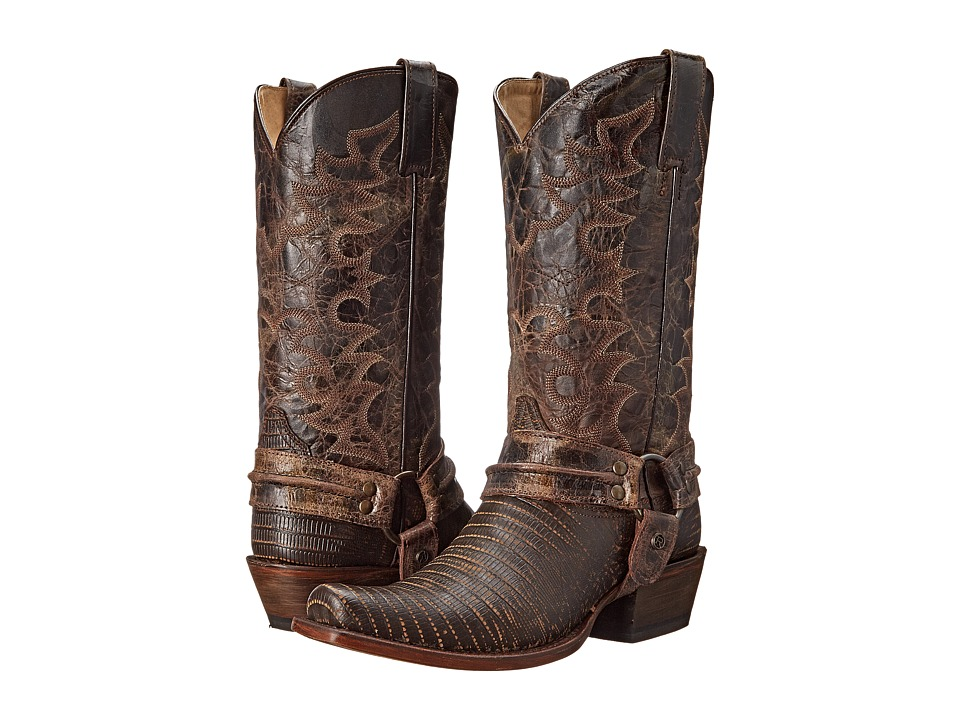 Roper - M/C Teju Bandit Toe Boot (Brown Leather) Cowboy Boots