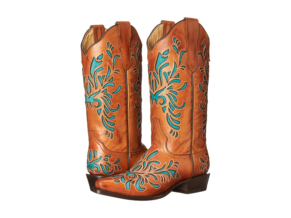 Stetson - Amber (Burnished Sorrel/Turquoise) Women's Boots
