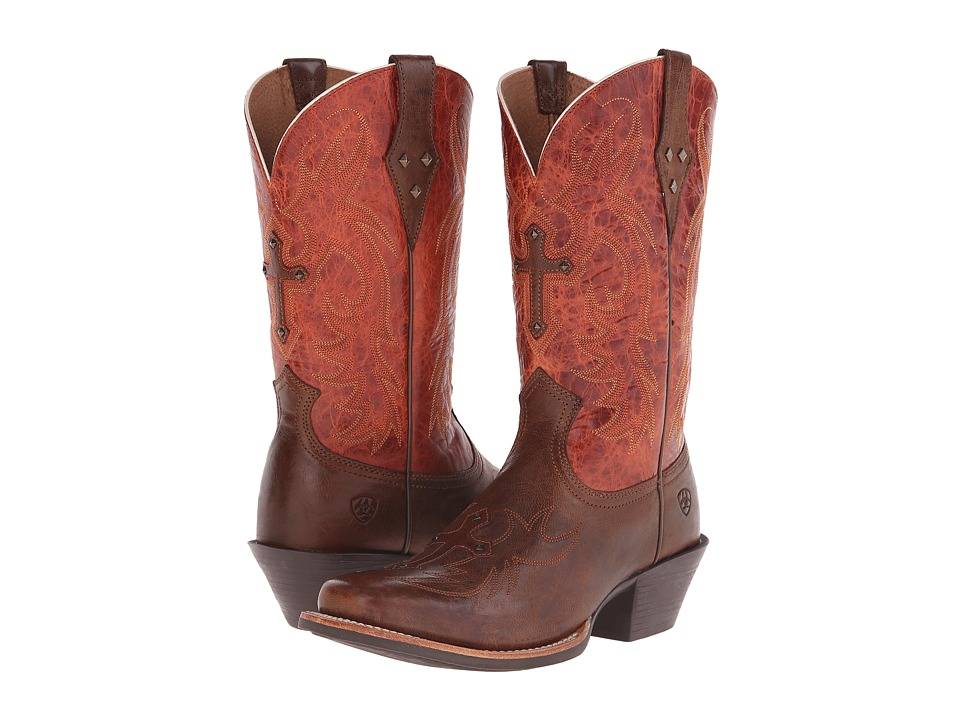 Ariat - Legend Spirit (Wood/Rust) Cowboy Boots