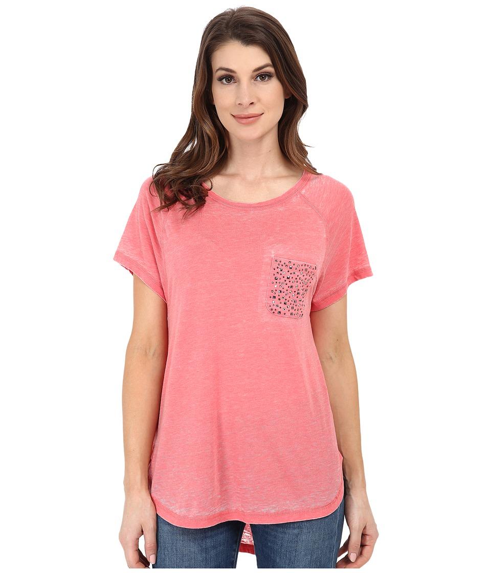 Seven7 Jeans - Burnout Raglan Tee (Neon Melon) Women