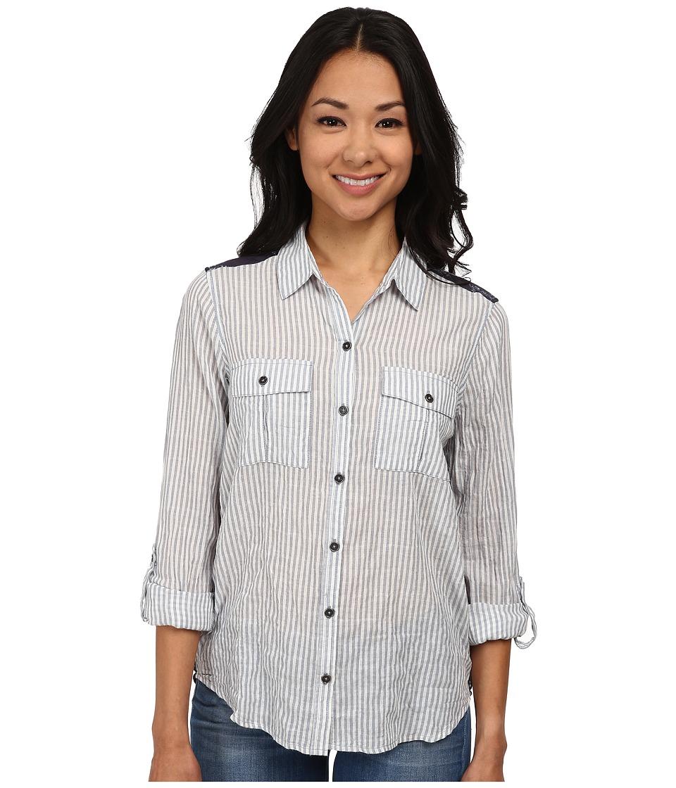 Seven7 Jeans - Railroad Stripe Top (Navy) Women's Clothing