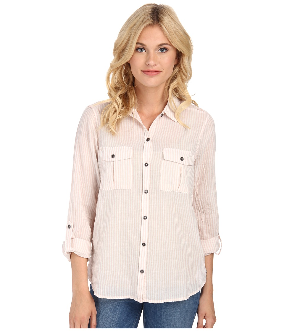 Seven7 Jeans - Railroad Stripe Top (Pink) Women's Clothing