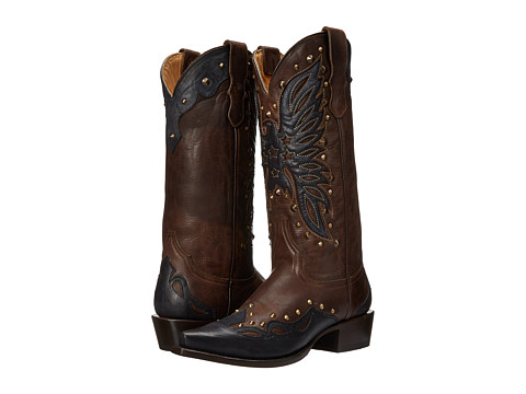 Stetson - Bella (Brown Riveted Eagle) Women's Boots