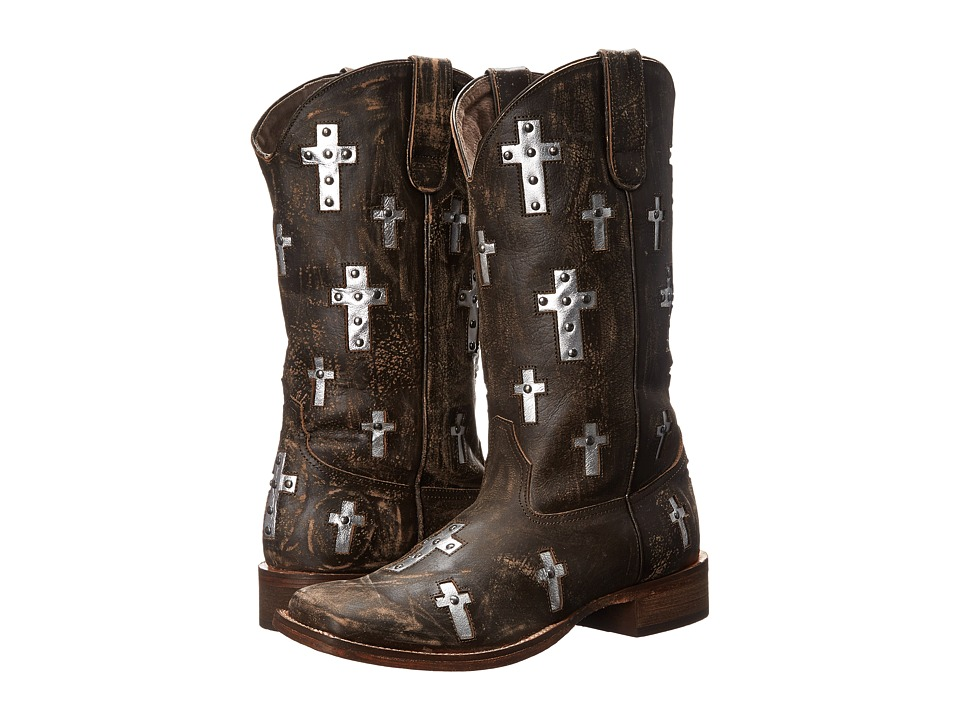 Roper - Cross (Brown) Cowboy Boots