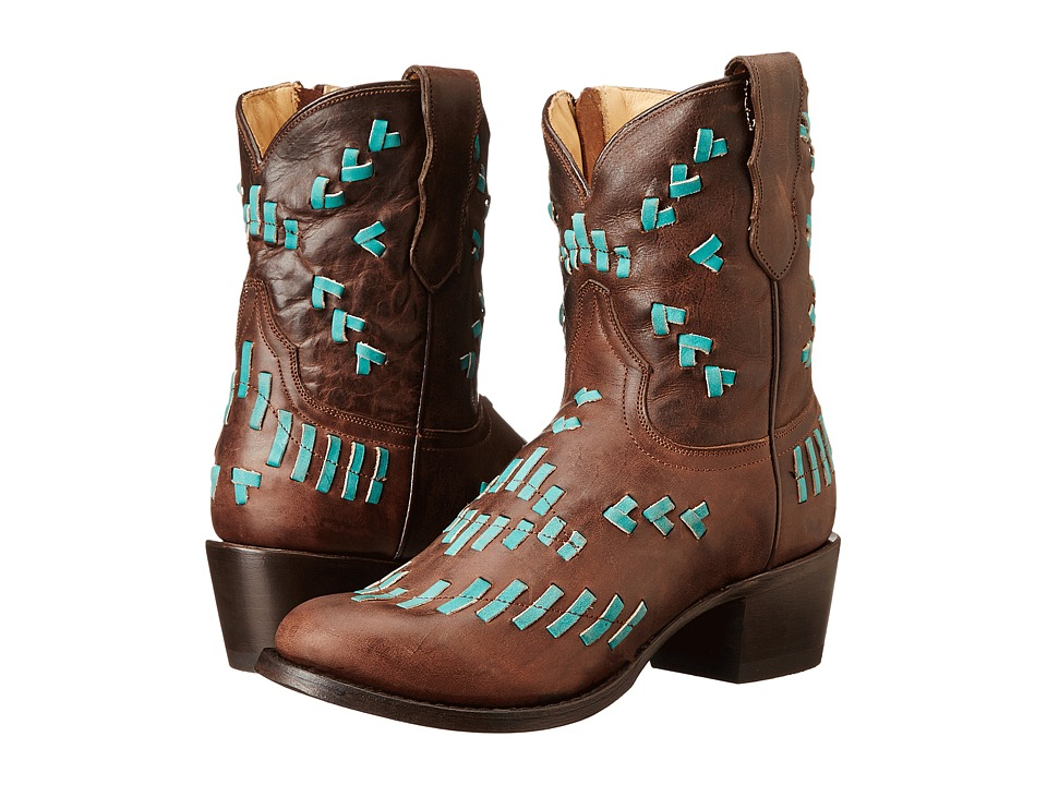 Stetson - Maddie (Brown/Turquoise) Women's Boots