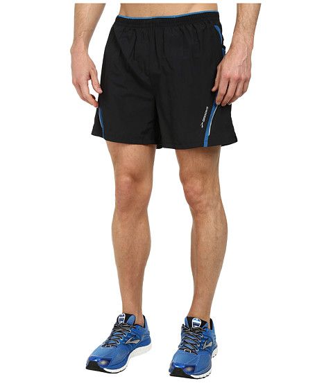 Brooks - Infiniti Notch Shorts II (Black/Baltic) Men