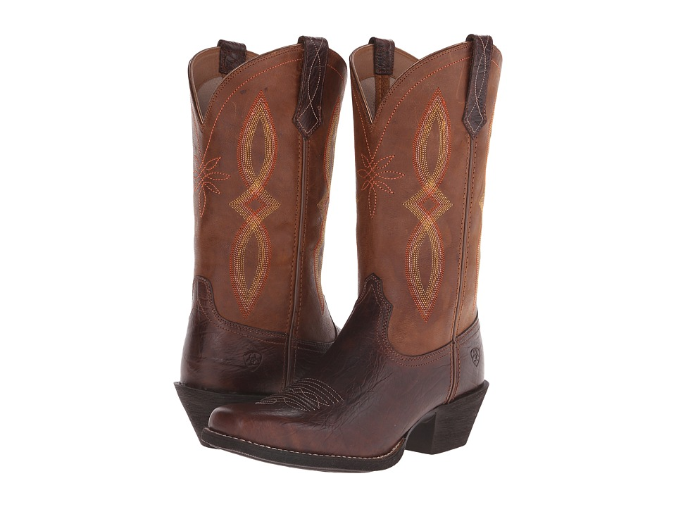 Ariat Round Up Square Toe II (Acorn/Tan) Cowboy Boots