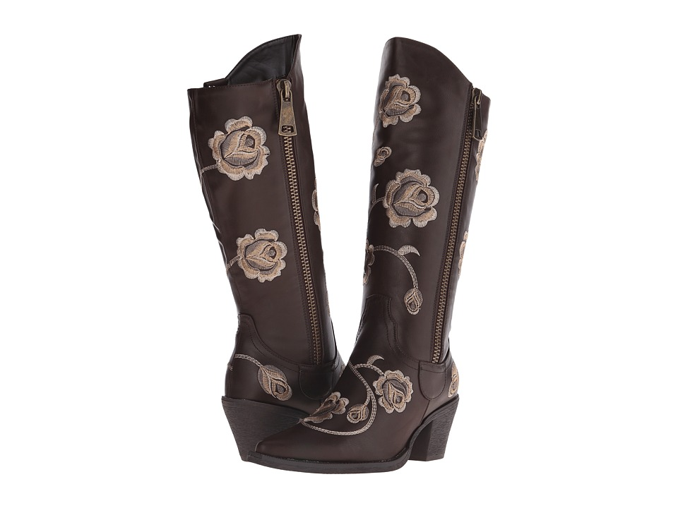 Roper - Rose (Brown) Cowboy Boots