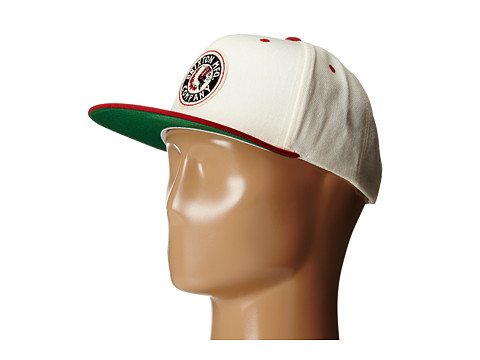 Brixton - Rival Snapback (Off White/Red) Baseball Caps