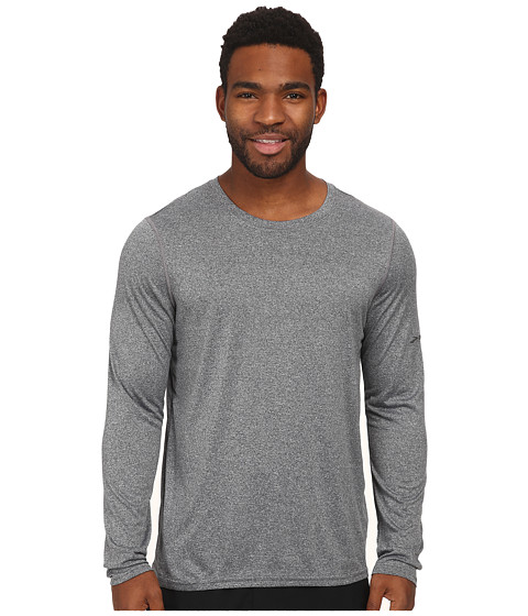 Brooks - EZ T L/S III (Anthracite) Men's Long Sleeve Pullover