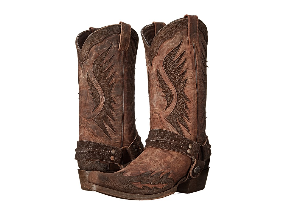 Stetson - Outlaw Wings (Washed Brown) Men's Boots
