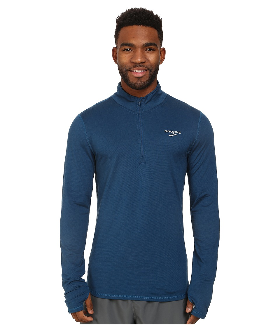 Brooks - Heater Hog 1/2 Zip Top (Poseidon) Men's Clothing
