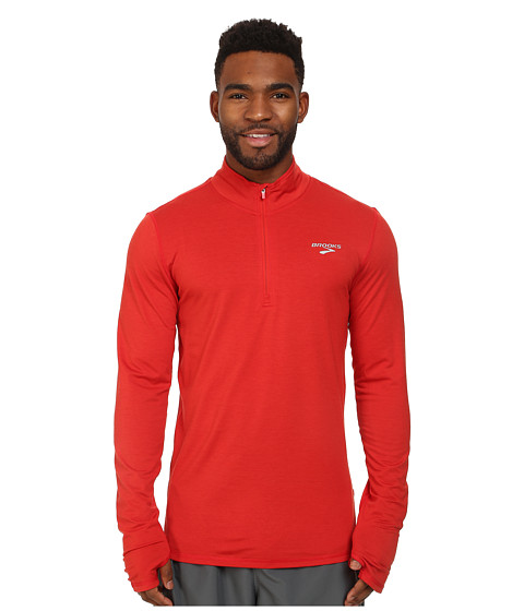 Brooks - Heater Hog 1/2 Zip Top (Heather Mars) Men