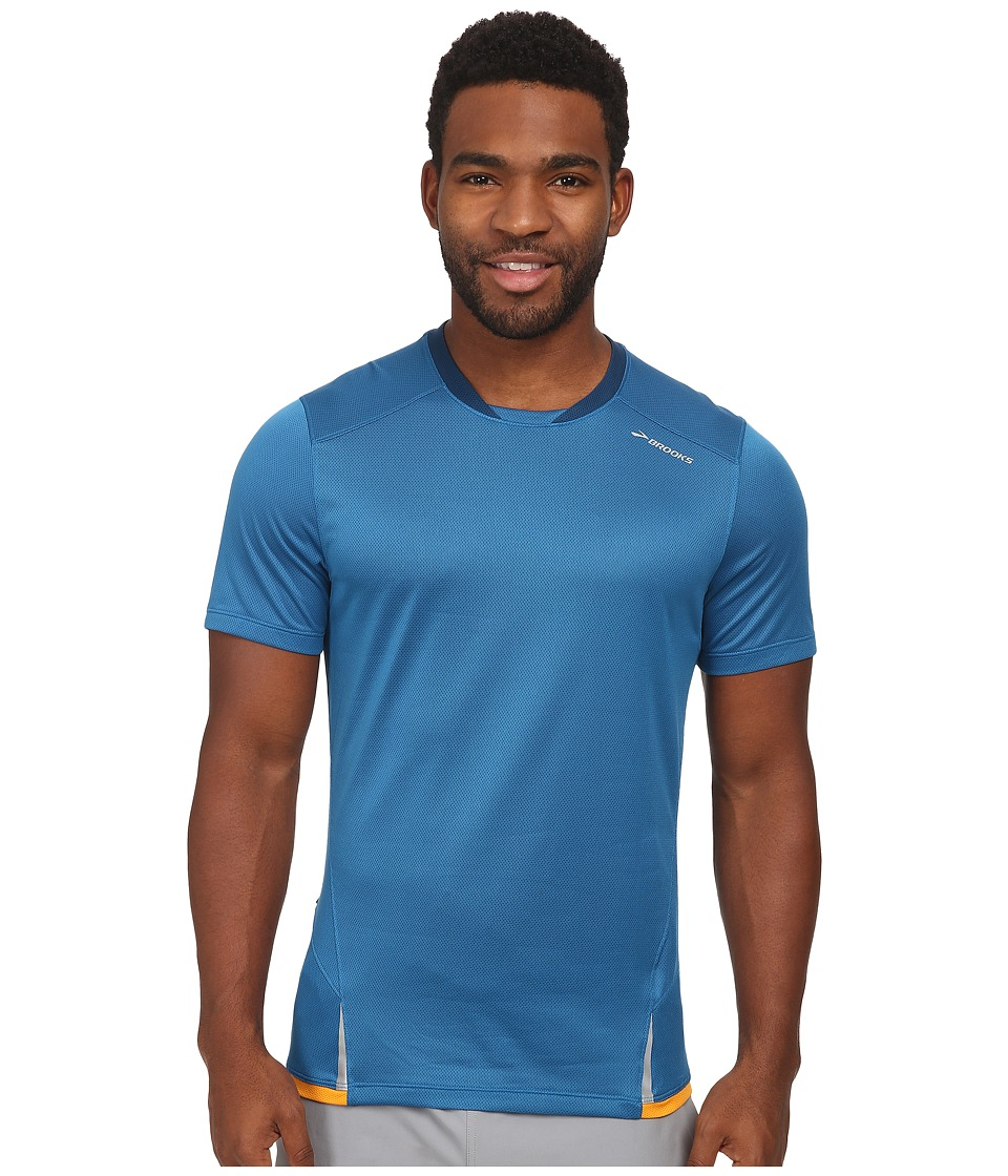Brooks - Infiniti Short Sleeve Top (Baltic/Poseidon) Men's T Shirt