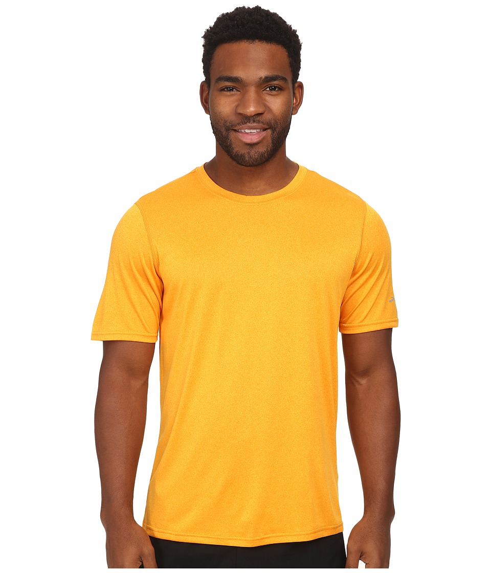 Brooks - EZ T III Top (Heather Mango) Men's Clothing