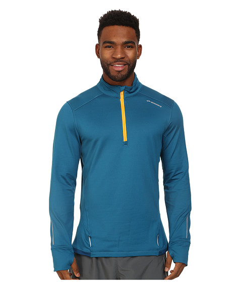 Brooks - Infiniti 1/2 Zip II Top (Baltic/Poseidon) Men's Clothing