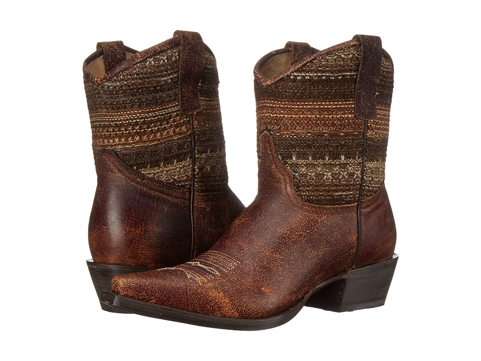 Roper - Avril Shorty (Brown) Cowboy Boots