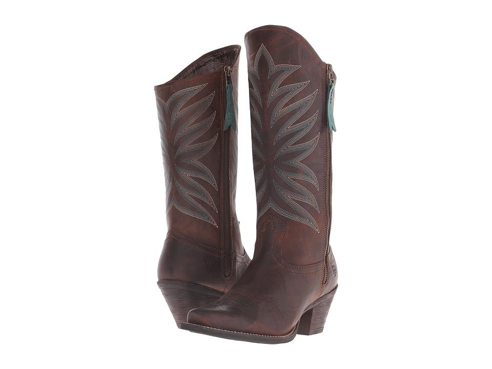 Ariat Fanfare (Marbled Mahogany) Cowboy Boots