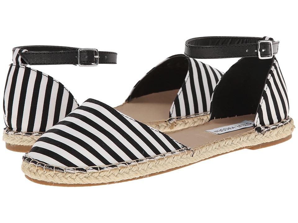 Steve Madden - Annee (Black/White) Women's Flat Shoes