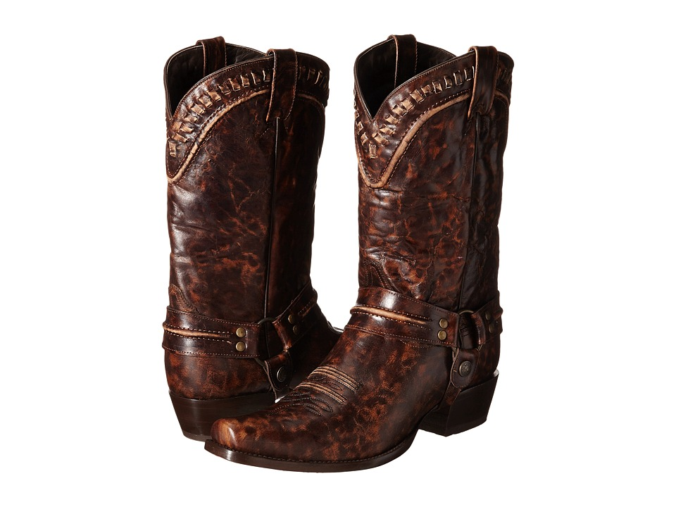Stetson - Outlaw Buckstitch (Marbled Brown) Men's Boots