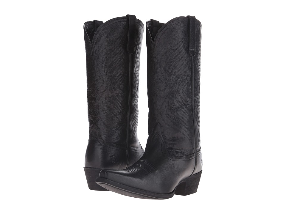 Ariat - Round Up X Toe (Black Deertan) Cowboy Boots