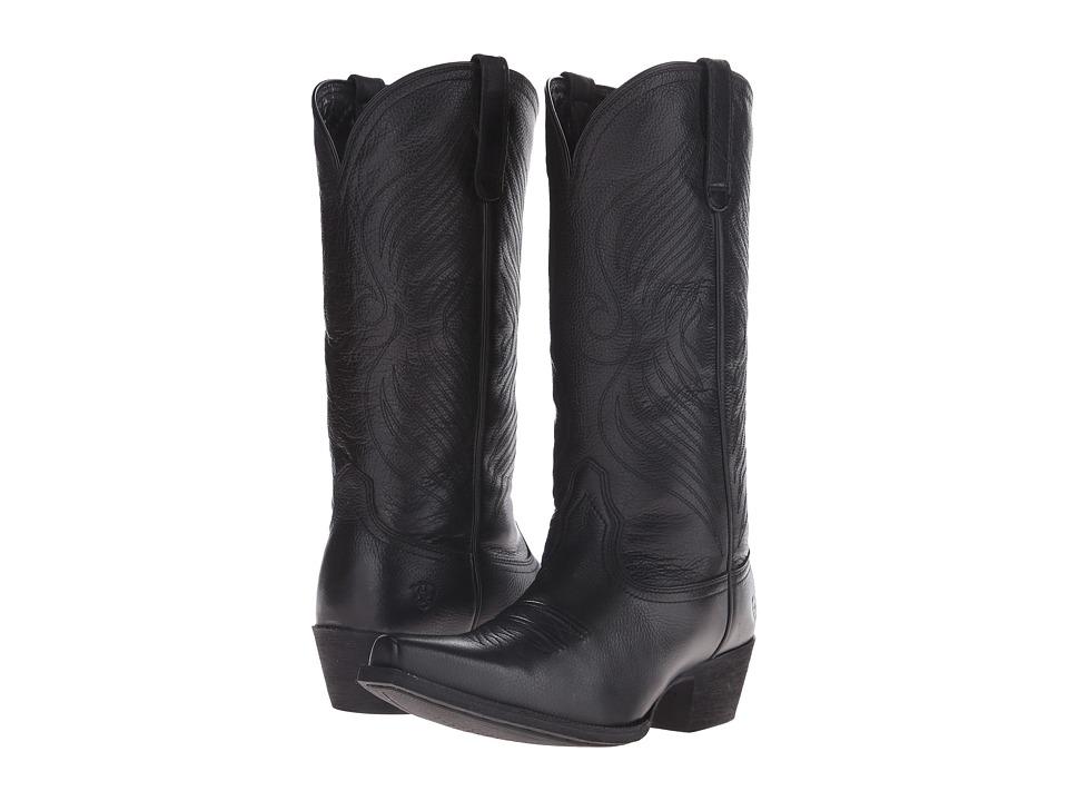 Ariat - Round Up X Toe (Black Deertan) Cowboy Boots