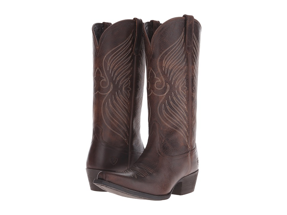 Ariat - Round Up X Toe (Wicker) Cowboy Boots