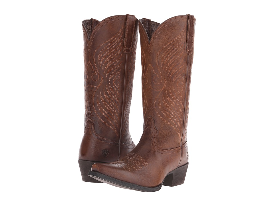 Ariat Round Up X Toe (Wood) Cowboy Boots