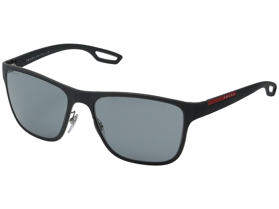 Prada Linea Rossa - PS 56QS (Grey Rubber/Dark Grey) Fashion Sunglasses