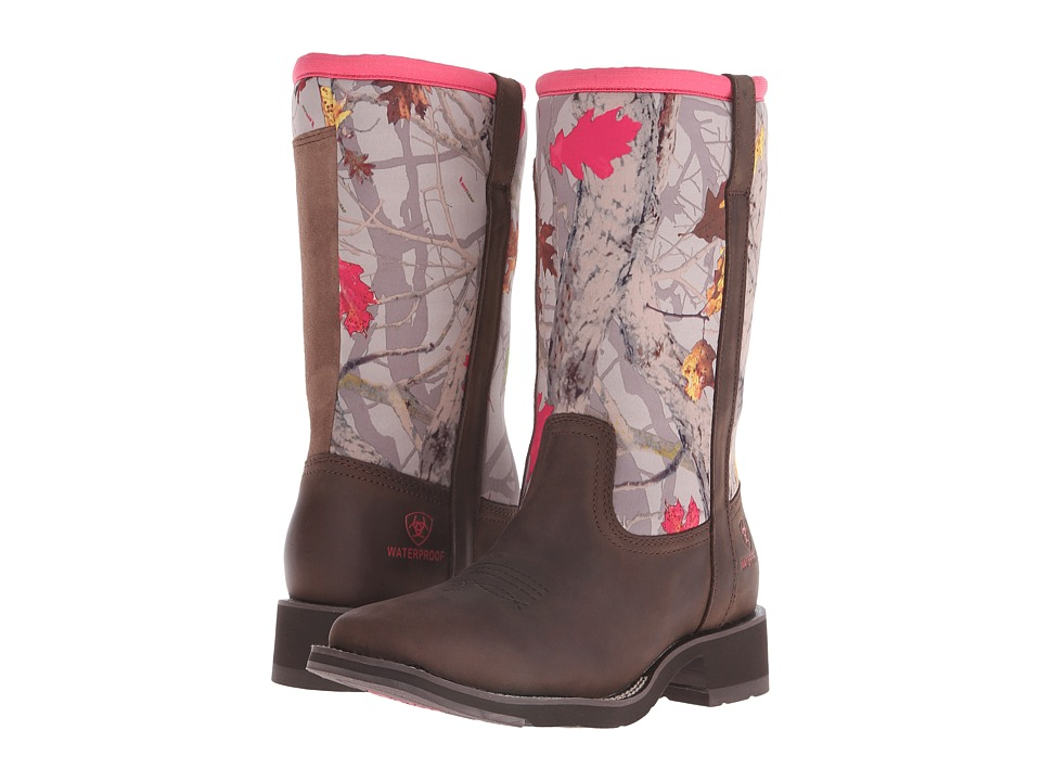 Ariat - Fatbaby All Weather (Palm Brown/Hot Leaf Neoprene) Cowboy Boots