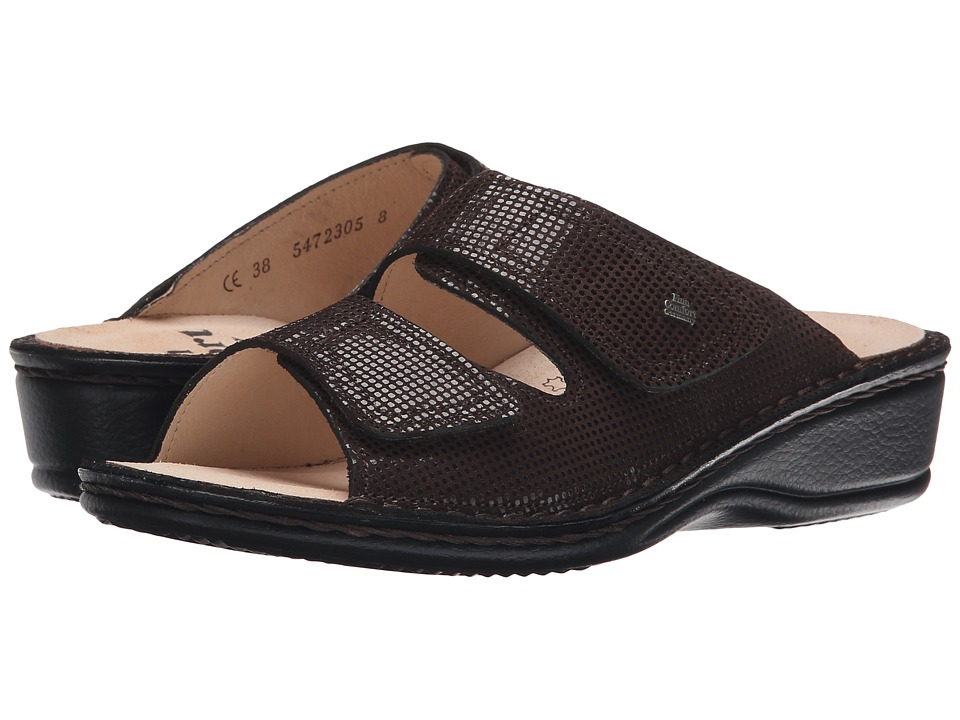 Finn Comfort - Jamaika-S (Kaffee Points) Women's Slide Shoes