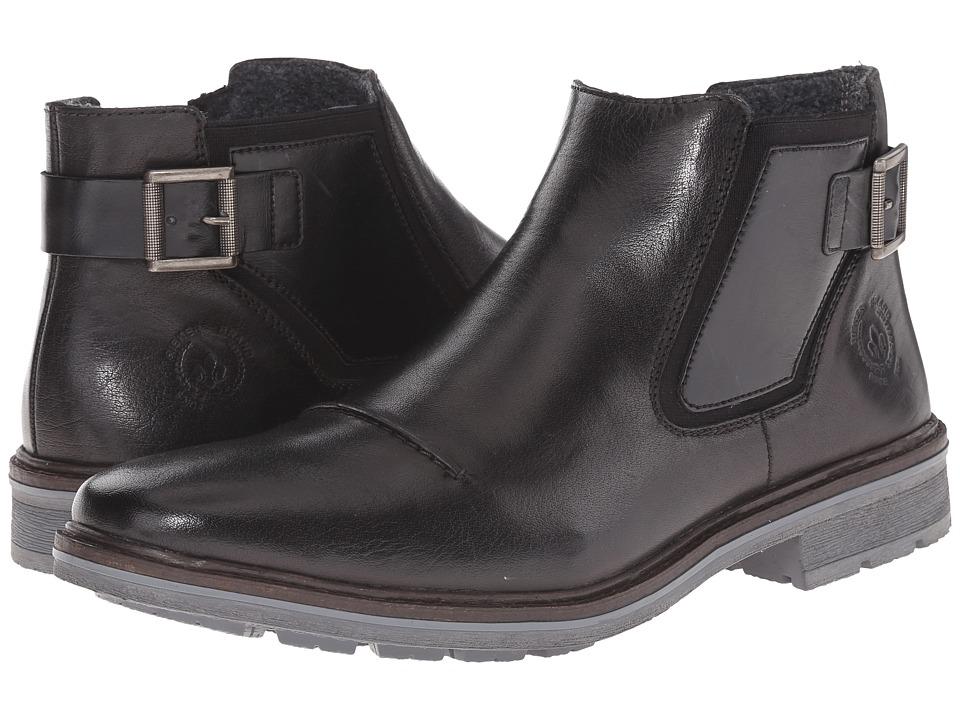 Rieker - 31552 (Black nobel/Black Ambor) Men's Pull-on Boots
