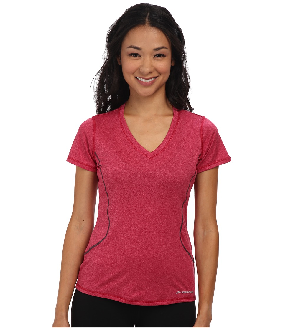 Brooks - Versatile Printed S/S III (Heather Jam) Women's Short Sleeve Pullover
