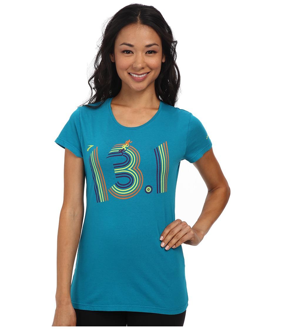 Brooks - 13.1 Short Sleeve Top (Caribbean) Women's Workout