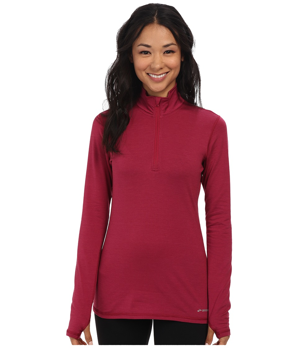 Brooks - Heater Hog 1/2 Zip Top (Heather Jam) Women's Workout