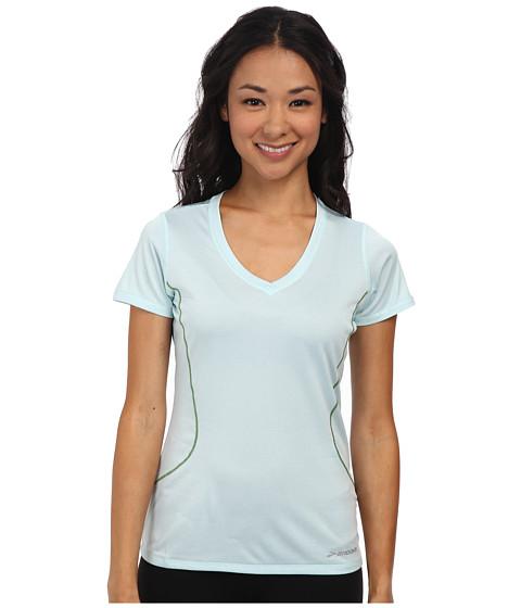 Brooks - Versatile Printed S/S III (Heather Breeze) Women's Short Sleeve Pullover