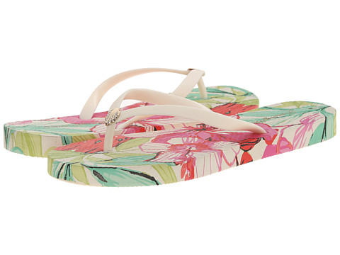 Tommy Bahama - Whykiki Flat Flower Repeat Print (Coconut) Women's Sandals