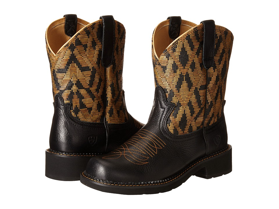 Ariat - Fatbaby Heritage Vivid (Vintage Black/Gold Blanket) Cowboy Boots