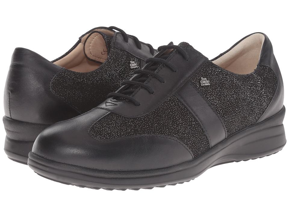 Finn Comfort - Lazio (Black Nappa Seda/Plata Luz) Women's Lace up casual Shoes