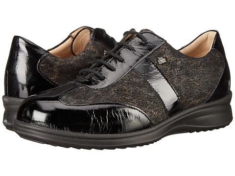 Finn Comfort - Lazio (Black Patent/Nero Newport) Women's Lace up casual Shoes