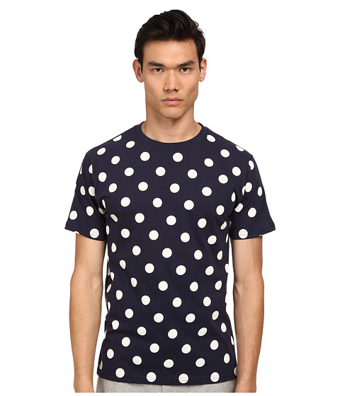 Mark McNairy New Amsterdam - Polka Dot T-Shirt (Navy/White) Men's T Shirt