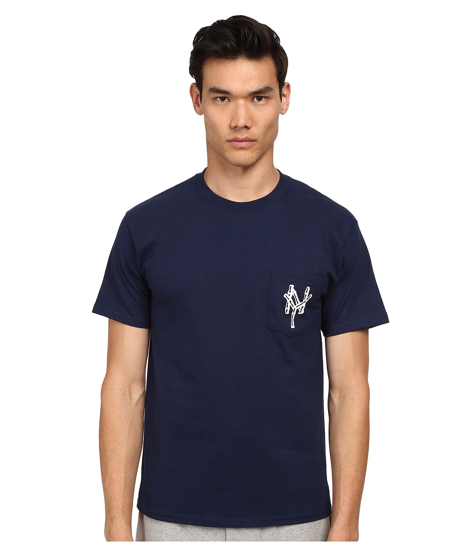 Mark McNairy New Amsterdam - Bamboo NY Pocket T-Shirt (Navy) Men